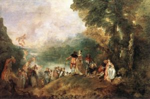 "Antoine Watteau, ""L'Embarkation de Cythère"", 1717"